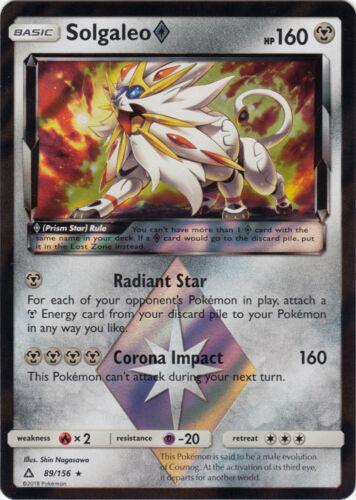 Ultra Prism Solgaleo Prism Star 89//156 Holo Rare Card NM Pokemon SM