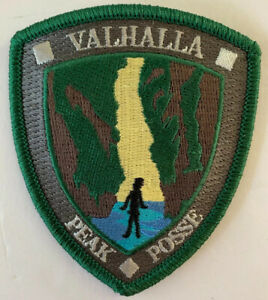 """Valhalla Canyon Embroidered 3"""" Patch Oregon Hike Hiking Sew On New"""