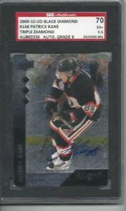 2009-10-UD-Black-Diamond-signed-hockey-card-Patrick-Kane-Chicago-Blackhawks-SGC