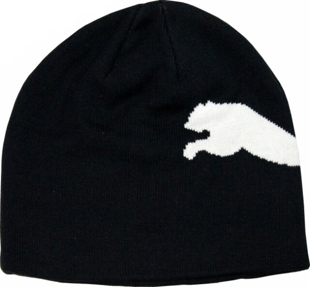 b95a7e19 PUMA Kids Junior Beanie Hat Big Cat Black/white
