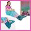 "miniatura 1 - Jay Franco & SONS Plush & Playful 55 pollici Coda COPERTA Ocean Blue sirena, 55"""