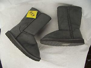 BNWT-Little-Boys-Or-Girls-Sz-9-The-Boot-Australia-Long-Grey-Slipper-Boots-RRP-69