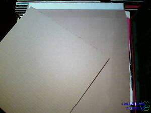 """100 12"""" LP STRONG BROWN RECORD MAILERS & 150 STIFFENERS"""