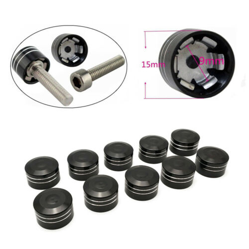 10x 9mm Hex Driver Screws Bolt Caps Cover for Harley Electra Street Glide FLHTC