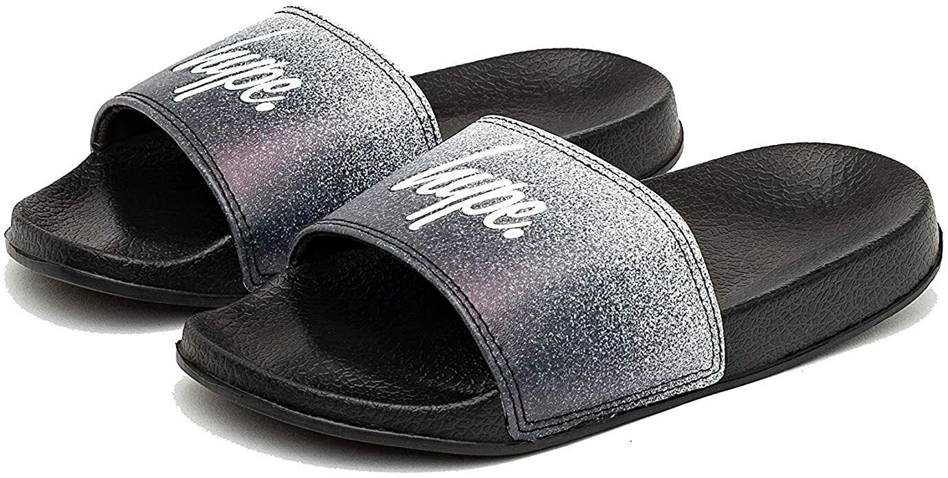 Hype Kids Speckle Fade Black Sliders