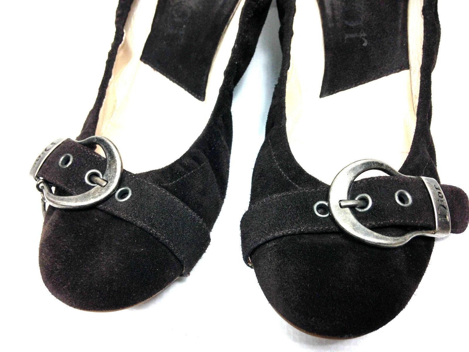Dior Flat Casual Brow US.6-6.5 Suede Woman's Schuhes Größe US.6-6.5 Brow EU.36.5 ca9ab8
