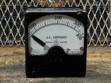 Ac Alternating Current Amperes General Electric Panel Meter 0 150 Type Ad 6