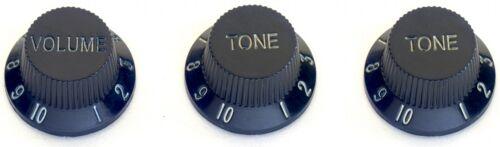 Stagg Electric Guitar Black Volume And Tone Knob Set SP-KNST-BLK