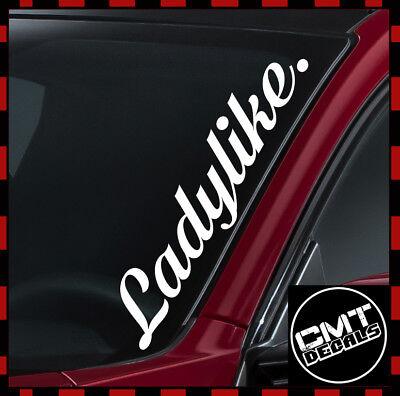 17 Colours 550mm Ladylike Car//Van Windscreen Decal Sticker JDM DUB Euro