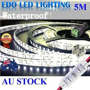 Waterproof-Cool-White-600-LED-DC-12V-5M-3528-SMD-Leds-Strip-Light-Car-Dimmer