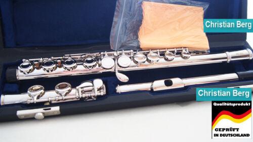 geschlossene Klappen Querflöte Silber Flauta Flauti Flute Traversie E-Mechanik