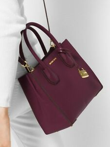 dfb9f6c9feeb Image is loading New-MICHAEL-KORS-MERCER-LARGE-STUDIO-CONVERTIBLE-PLUM-