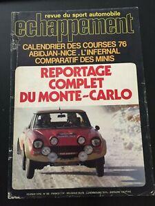 MAGAZINE-ECHAPPEMENT-N-88-FEVRIER-1976-RALLYE-MONTE-CARLO-WRC-A112-ABARTH-CIVIC