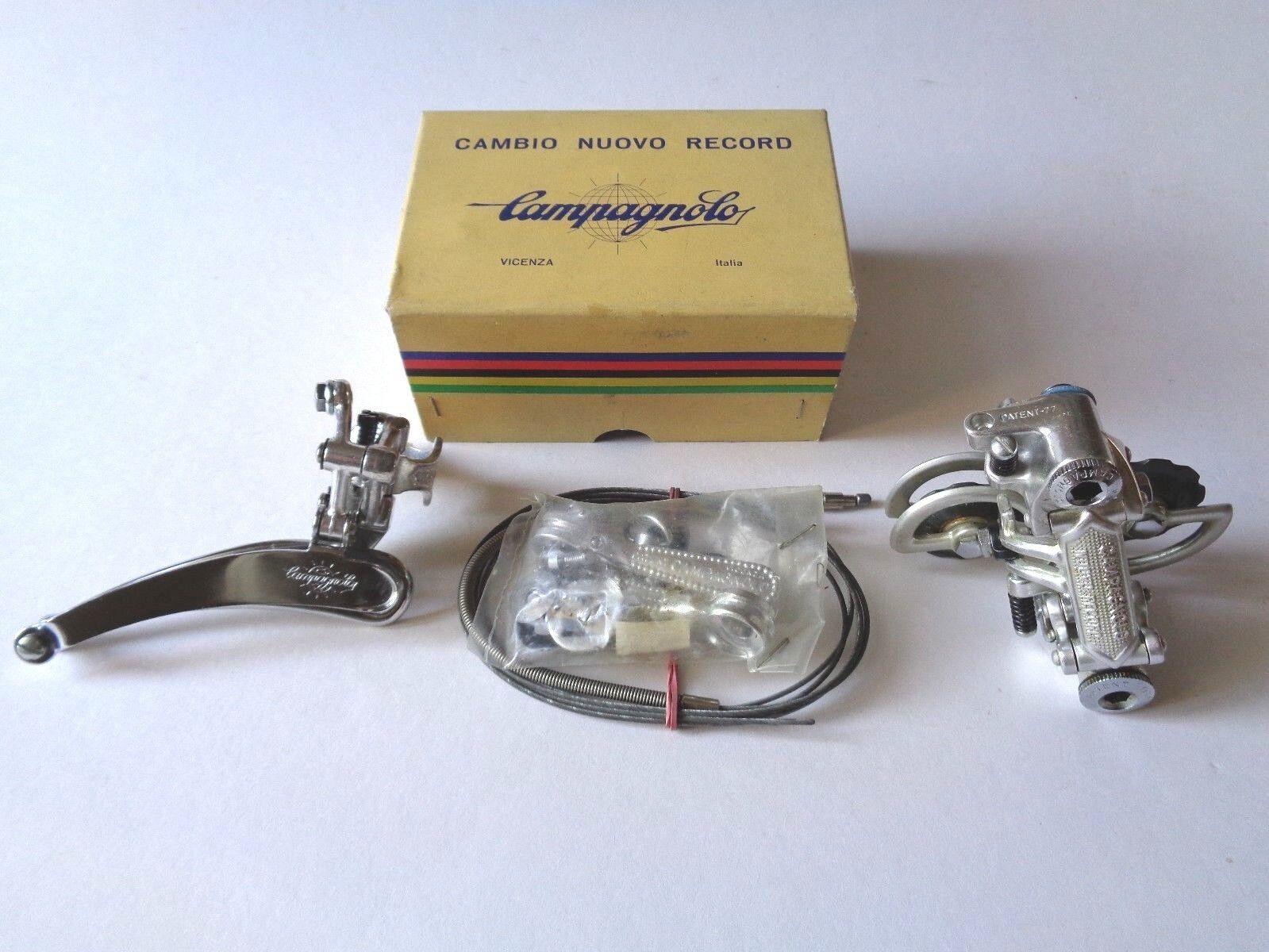 NOS Vintage 1970s Campagnolo Nuovo Record complete derailleur gear set