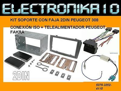 Adaptador antena fakra Conexiones Soporte radio doble din  peugeot 308