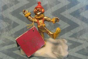 Handgefertigter-Clown-Skulpturiertes-von-Judy-Talbot-fuer-George-Gut-Corp-Marmor