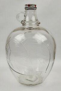 Vintage-Glass-Apple-Cider-Vinegar-Jug-One-Gallon-with-lid