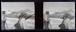 Montagne Alpinisti Alpinismo Negativo Foto Stereo Placca Da Lente VR12ne14