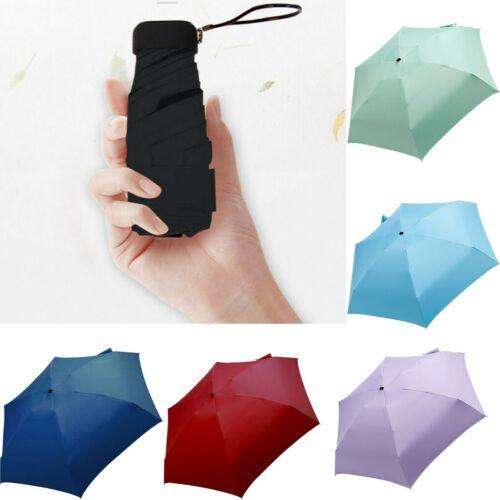 Mini 5-Folding Compact Umbrella Windproof Anti-UV Rain Sun Travel Portable