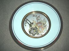 """The Art of Chokin Collectible Decorative Plate Silver and Gold Made in Japan 6"""""""