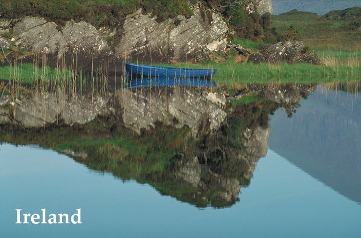 BOAT LAKE REFLECTION KINGDOM OF IRELAND DUBLIN IRISH FINE ART REPRO POSTER