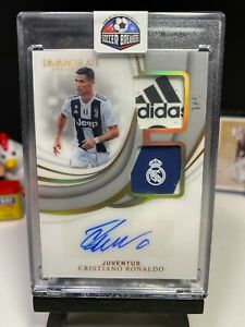 2018-19 Immaculate Soccer CRISTIANO RONALDO Dual Patch Autograph GOLD 5/5 AUTO