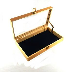 Image Is Loading Key Locking Wood Gl Top Pad Display Case