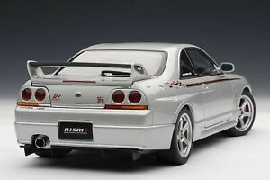 Autoart 1/18 Nissan Skyline Gtr R33 Nismo R-tune Argent