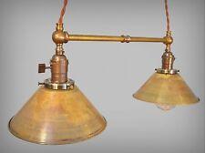 Industrial Lighting - Vintage Brass Pendant Lamp - Steampunk Lamp Pool Table