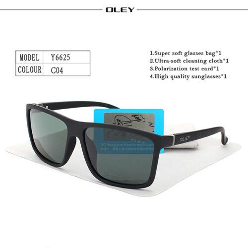 OLEY HD Polarized Men Sunglasses brand designer Retro Square Sun Glasses