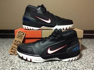 f5a3c0bb63c0a AIR ZOOM GENERATION LEBRON 1 Black White Nike 3 4 5 6 7 8 9 10 First ...