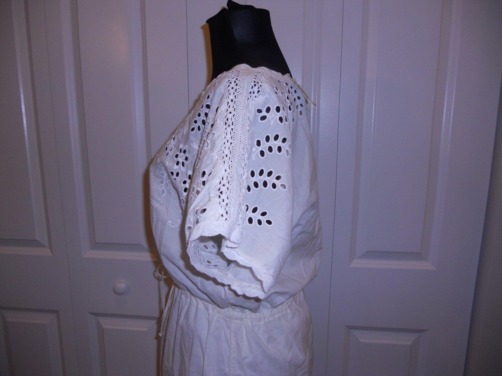 NWT MADEWELL 1937 EYELET WILDFIELD DRESS IN CREAM CREAM CREAM SIZE 12 e4ccb5