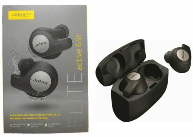 Jabra Elite Active 65t Wireless Earbud Headphones Titanium Black For Sale Online Ebay