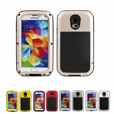 Aluminum Gorilla Glass Metal Waterproof Shockproof Cover Case For Samsung Models