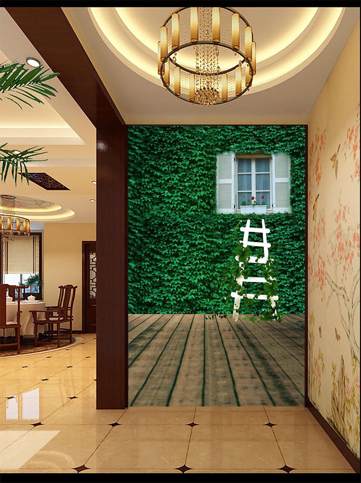 Papel Pintado Mural De Vellón Escaleras De Vid Ventana 31 Paisaje Fondo Pansize