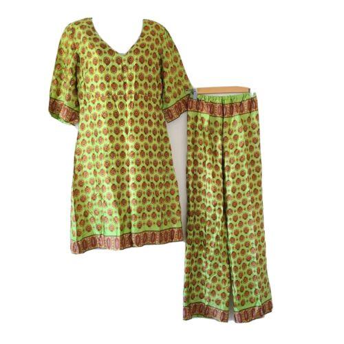 Vintage 50s Womens Beach Pajamas Tunic Loungewear