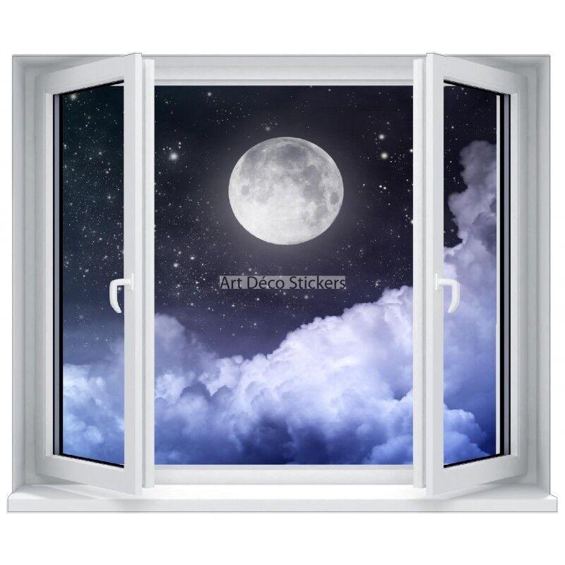 Aufkleber Schein die Auge (Scheinbild) Fenster Mond Im Himmel 5322 5322