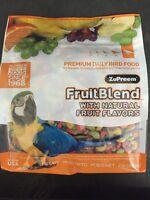 Zupreem Fruitblend L Avian Diet Pellet Parrot Food 2lb Macaw Cockatoo Amazon