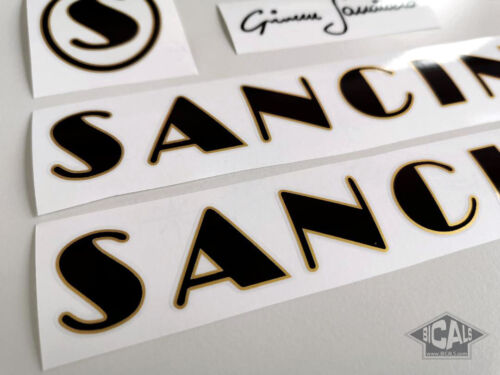 silk screen Sancineto black decal sticker bicycle FREE SHIPPING