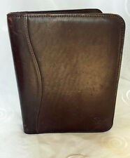 Franklin Covey Leadership Center Leather Classic Open Binder Planner Dark Brown