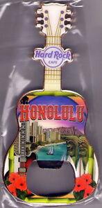 Hard-Rock-Cafe-HONOLULU-2017-Guitar-MAGNET-Bottle-Opener-V17-WAIKIKI-DIAMONDHEAD