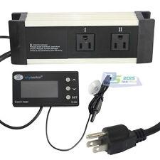 Blue LCD Reptile Digital Repile Thermostat Temperature Control Heat Cool US Plug