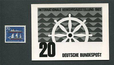 Brd Foto-essay 474 Iva 1965 Schiffe Schiff Ships Photo-essay Proof Rare!! E110 Eine Hohe Bewunderung Gewinnen