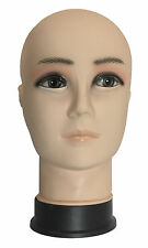 Male Mannequin Head Display Stand For Wigs, Glasses, Scarves, Hats Plastic PVC