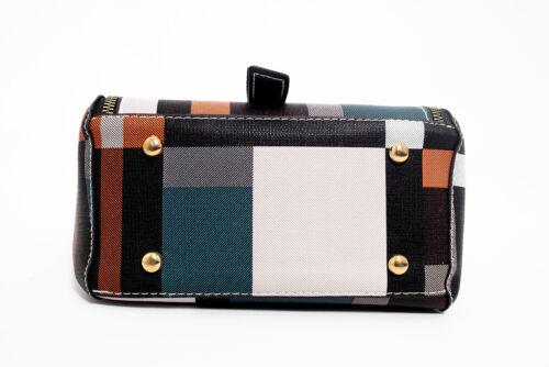 DASTI Checkered Anti Theft Purse Small Mini Backpack Convertible Purse Black