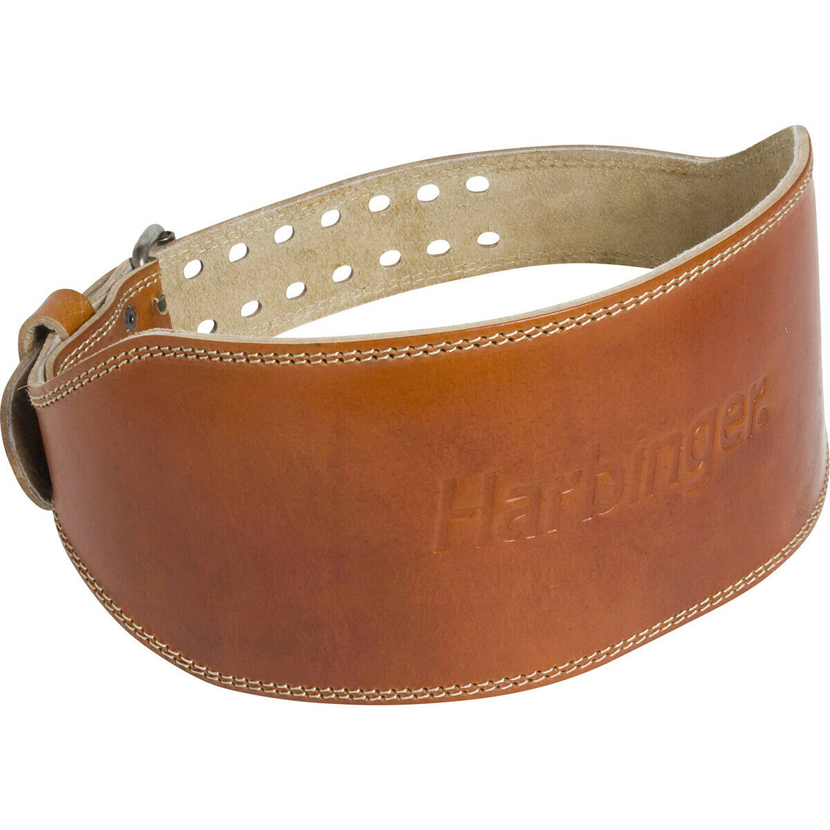 Harbinger 6  engrasado de cuero marrón-cinturón de levantamiento de pesas