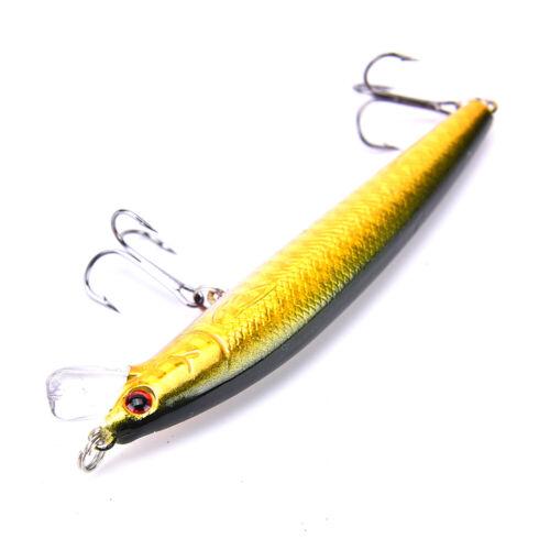 New 10Pcs Kinds Of Fishing Lures Crankbaits Hooks Minnow Baits Tackle Crank J DD
