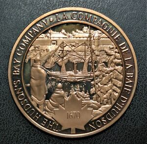 1670 Hudson's Bay Company: 1971 History of Canada Proof Bronze Medal