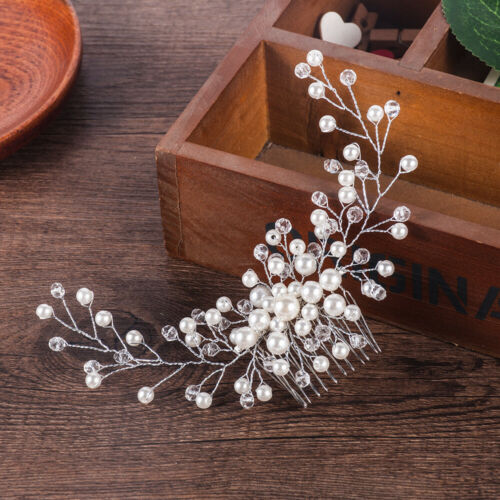 Women Bride Bridal Hair Comb Wedding Headwear Pearl Jewelry Hair Accessories New