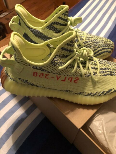 c6ac57dc2e29db adidas Yeezy Boost 350 V2 Size 10.5 Semi Frozen Yellow B37572 DS Kanye